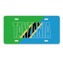 坦桑尼亚国旗英文名 美国车牌汽车家居店铺装饰礼物