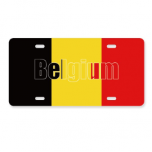比利时国旗英文名 美国车牌汽车家居店铺装饰礼物