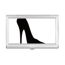 黑色高跟鞋剪影纹样 金属名片夹名片盒卡包