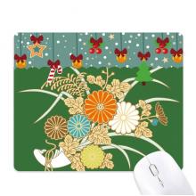 秋天日本黄色花朵 游戏办公防滑橡胶鼠标垫圣诞