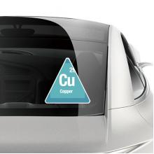铜化学元素周期表 车贴汽车贴纸不干胶装饰