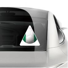 尼日利亚国旗足球纹样 车贴汽车贴纸不干胶装饰