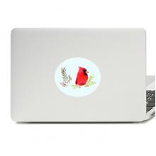 红色雀鸟插画 平板电脑贴纸装饰贴画