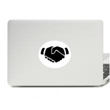 握手手势剪影纹样 平板电脑贴纸装饰贴画
