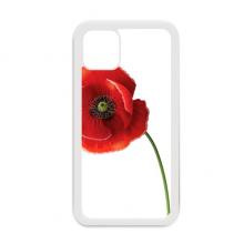 简约艺术画虞美人红花背景图装饰 适配于iPhone11手机壳apple苹果白色保护套