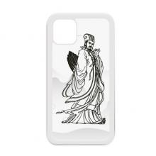 道教墨迹诸葛亮画像 适配于iPhone11手机壳apple苹果白色保护套