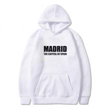 马德里西班牙首都 卫衣抓绒连帽衫衣服装运动