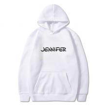 手写英文名个性私人订制Jennifer 卫衣抓绒连帽衫衣服装运动