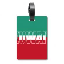 科威特国旗英文名 旅行箱包标签旅行者识别标牌