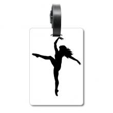 跳舞舞者表演运动 旅行箱包标签旅行者识别标牌
