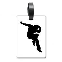 舞者街舞跳跃表演 旅行箱包标签旅行者识别标牌
