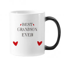 很好的孙子摘引亲人 加热变色爱情照片陶瓷马克杯