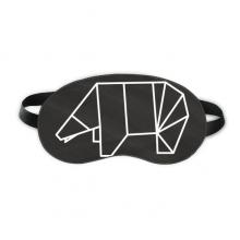 抽象熊几何折纸图形 睡眠眼罩夜间遮光午睡亲肤
