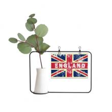 英国国旗米字旗标记插画 金属相框陶瓷花瓶装饰