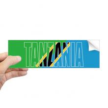 坦桑尼亚国旗英文名 矩形保险杠贴纸笔记本窗户车身贴