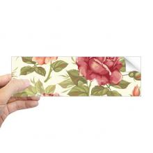 复古玫瑰水彩花卉植物 矩形保险杠贴纸笔记本窗户车身贴