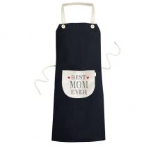 很好的妈妈摘引亲人 黑色厨房咖啡餐厅奶茶店工作家居服围裙礼物