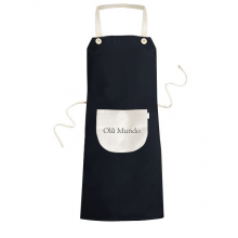 你好世界葡萄牙语 黑色厨房咖啡餐厅奶茶店工作家居服围裙礼物
