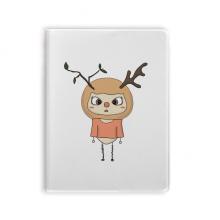 动物鹿大自然叶子棕色悠悠 套胶本笔记日记本子手账