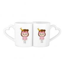 动物猴子大自然淘气香蕉悠悠 情侣爱情2个马克水杯陶瓷杯子礼物