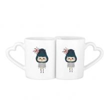 动物鲨鱼大自然大海鱼悠悠 情侣爱情2个马克水杯陶瓷杯子礼物