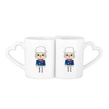 澳大利亚大洋洲堪培拉国旗悠悠 情侣爱情2个马克水杯陶瓷杯子礼物