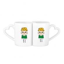 巴西葡萄牙语国旗悠悠 情侣爱情2个马克水杯陶瓷杯子礼物