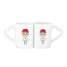 加拿大国家枫叶渥太华国旗悠悠 情侣爱情2个马克水杯陶瓷杯子礼物