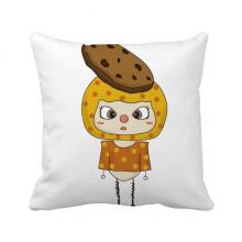 食物曲奇饼干甜的零食悠悠 方形抱枕睡眠靠枕沙发靠垫双面含芯