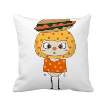 食物热狗面包蔬菜主食悠悠 方形抱枕睡眠靠枕沙发靠垫双面含芯