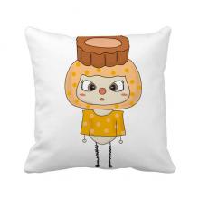 食物月饼中国月亮节日悠悠 方形抱枕睡眠靠枕沙发靠垫双面含芯