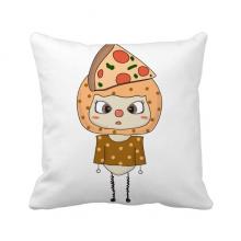 食物披萨蔬菜肠美味大悠悠 方形抱枕睡眠靠枕沙发靠垫双面含芯