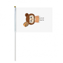 动物熊棕色大自然蜂蜜悠悠 8号手挥手摇旗帜体育赛事助威4面