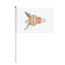 动物鹿大自然叶子棕色悠悠 8号手挥手摇旗帜体育赛事助威4面