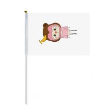 动物猴子大自然淘气香蕉悠悠 8号手挥手摇旗帜体育赛事助威4面