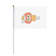 食物鸡蛋营养白色黄色悠悠 8号手挥手摇旗帜体育赛事助威4面