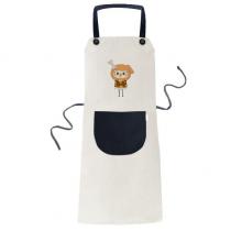 动物狗大自然淘气骨头悠悠 米色厨房咖啡餐厅奶茶店工作家居服围裙礼物