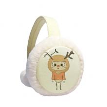 动物鹿大自然叶子棕色悠悠 冬季可折叠保暖耳套耳罩护耳挂耳包礼物