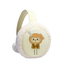 动物狗大自然淘气骨头悠悠 冬季可折叠保暖耳套耳罩护耳挂耳包礼物