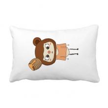 动物熊棕色大自然蜂蜜悠悠 抱枕靠枕腰枕沙发靠垫含芯居家抓鬼你是