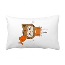 动物猫大自然鱼淘气悠悠 抱枕靠枕腰枕沙发靠垫含芯居家抓鬼你是