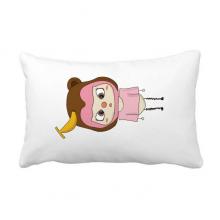 动物猴子大自然淘气香蕉悠悠 抱枕靠枕腰枕沙发靠垫含芯居家抓鬼你是