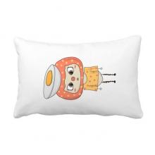 食物鸡蛋营养白色黄色悠悠 抱枕靠枕腰枕沙发靠垫含芯居家抓鬼你是
