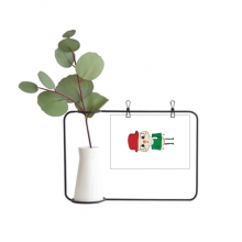 意大利国家罗马国旗悠悠 金属相框陶瓷花瓶装饰