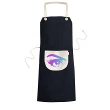 眼睛局部特写睫毛 黑色厨房咖啡餐厅奶茶店工作家居服围裙礼物