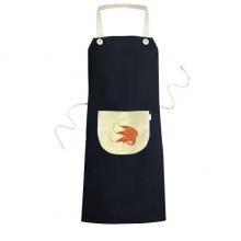 大虾海鲜美食 黑色厨房咖啡餐厅奶茶店工作家居服围裙礼物