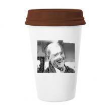 拜登美国总统嘲笑鄙视 陶瓷杯子马克杯带盖锥形水杯礼物