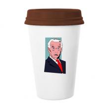 拜登美国总统严肃震惊 陶瓷杯子马克杯带盖锥形水杯礼物