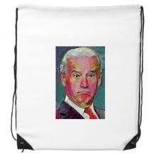 拜登美国总统严肃疑惑 运动背包购物包双肩拉带球包礼物