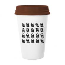 美国总统形象乔排列特异 陶瓷杯子马克杯带盖锥形水杯礼物